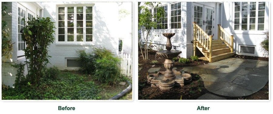 front porch before after